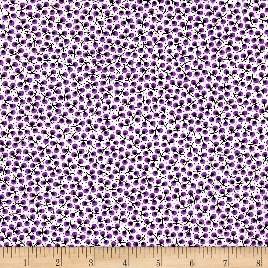Everything But The Kitchen Sink Berry Picking Boysenberry Fabric by RJR in USA