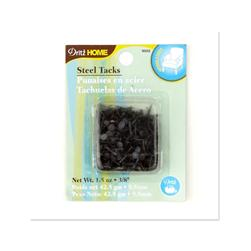 "Upholstery Steel Tacks 3/8"" 1.5 Ounce Black"