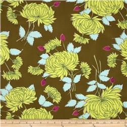 Amy Butler Belle French Wallpaper Olive Fabric