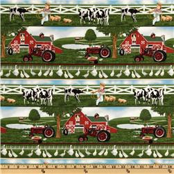 Farmall International Harvester Farm Border Stripe Multi