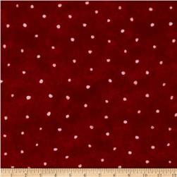 Let It Snow Flannel Dots Red White