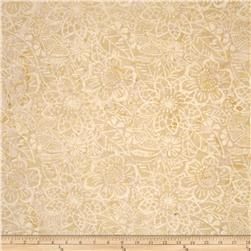 "Timeless Treasures 106"" Batik Quilt Back Fall Bouquet Cream"
