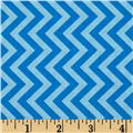 Michael Miller Soft Top Tire Treads Chevrons Turquoise