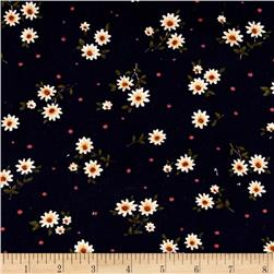 21 Wale Printed Corduroy Daisy Floral