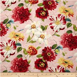 Rainbow Garden Large Floral Allover Pink