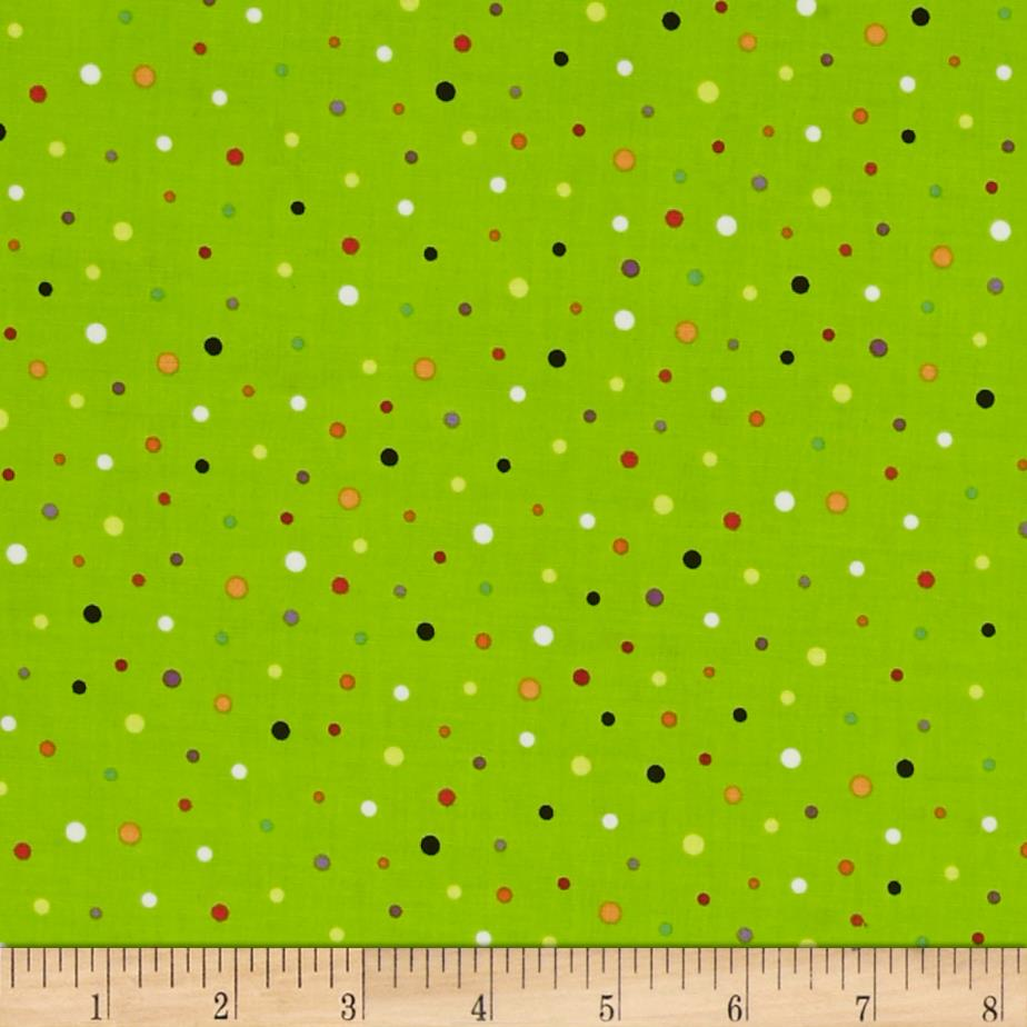 Frightful & Delightful Glow In The Dark Dots Green