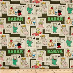 Babar Stamps Grey