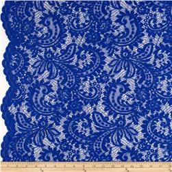 Amelia Stretch Lace Royal Blue Fabric