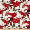 Bundle Up Snowman Scenic Red