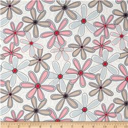 "Basically Wide 108"" Quilt Back Floral Pink"