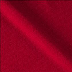 Solid Waffle Plush Wool Blend Coating Red