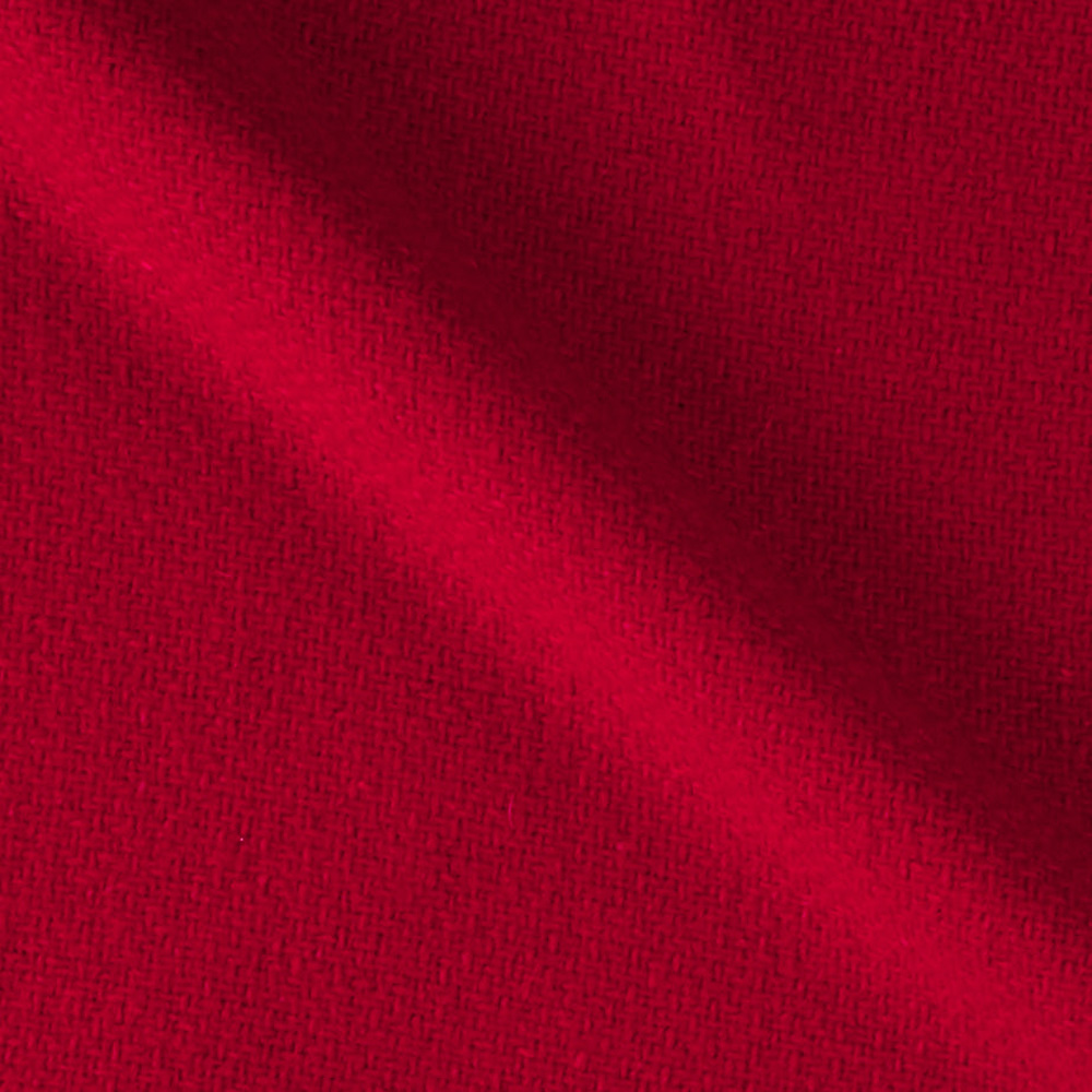 Solid Waffle Plush Wool Blend Coating Red Fabric