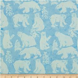 Island Batik Tinsel Bear Blue