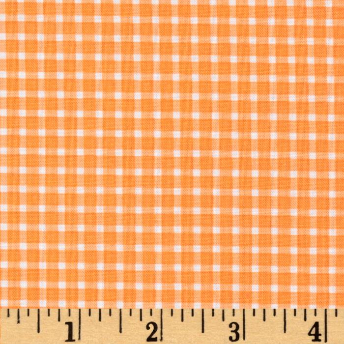 Michael Miller Cute Zoo Plaid Orange
