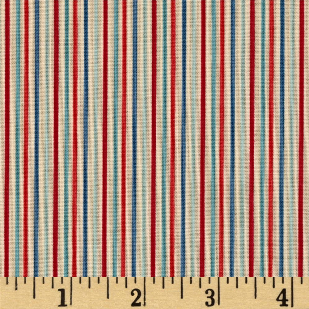 Riley blake rocket age stripes red discount designer for Rocket fabric