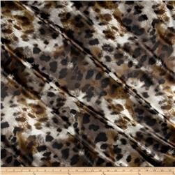 Panama Stretch Satin Spots Brown/Black