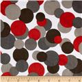 Minky Candy Circles Grey/Red