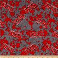The Walking Dead Flannel Blood Splatter Red