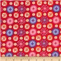 Camizu Small Tossed Floral Red