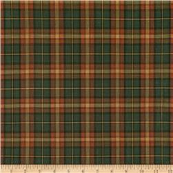 Holiday Blitz Large Plaid Green/Orange