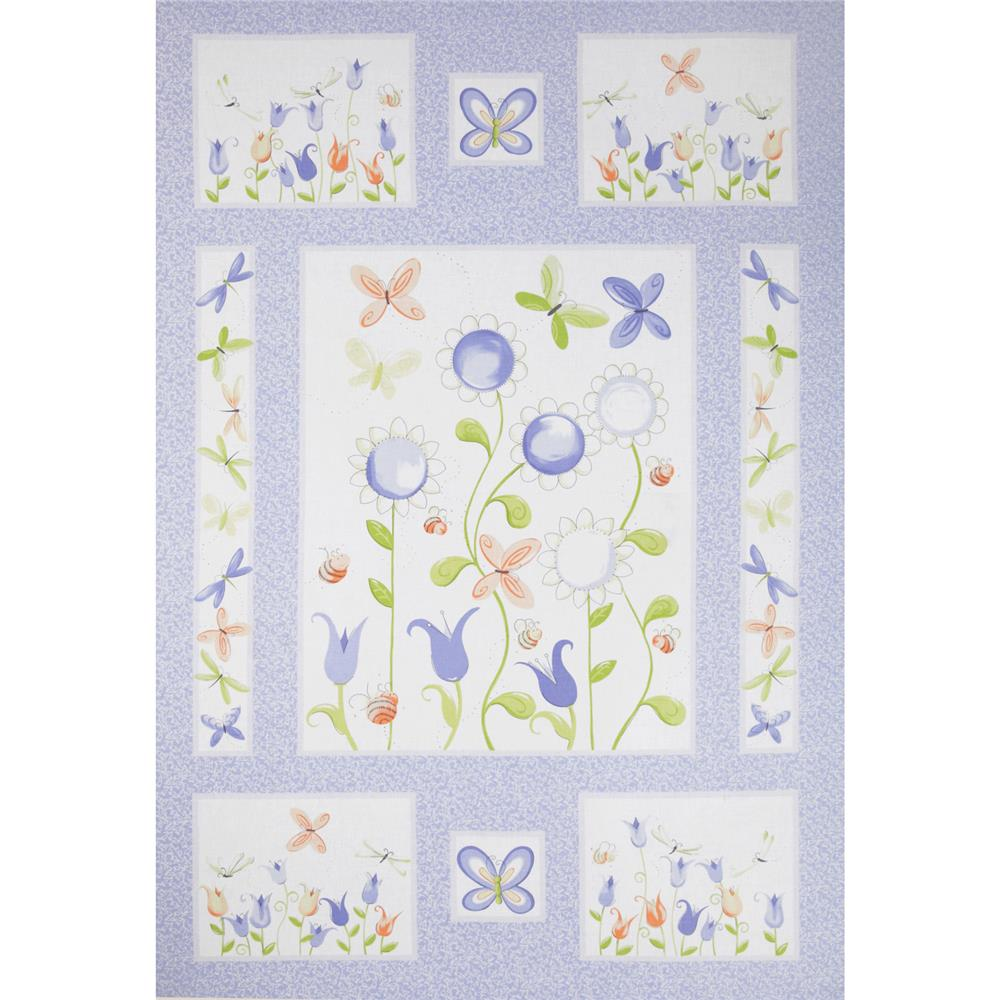 Susy Sunflower Panel Purple