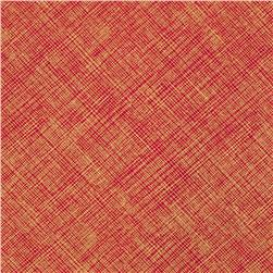 Timeless Treasures Hatch Metallic Red Fabric
