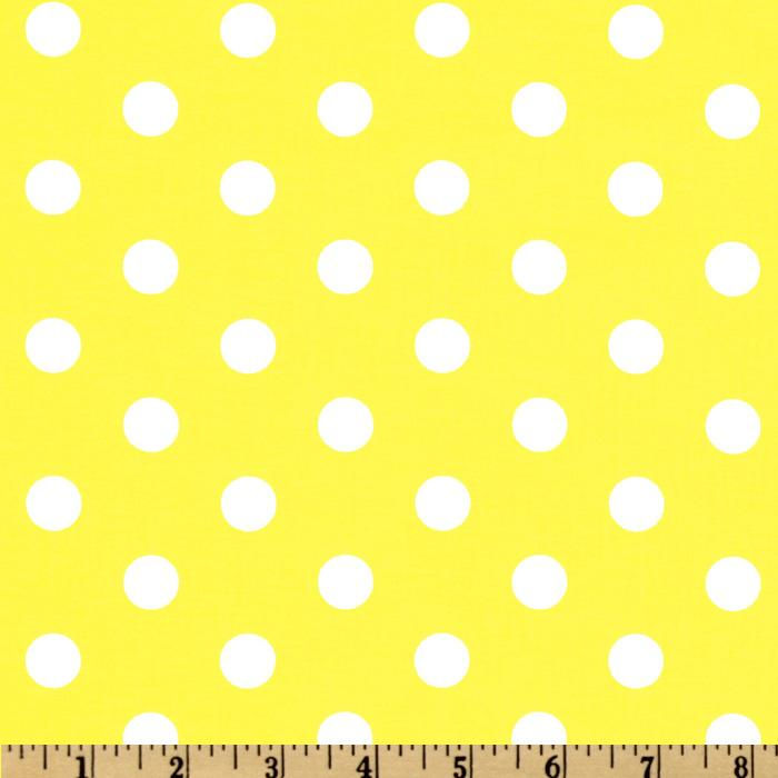 Spot On Polka Dots Yellow Discount Designer Fabric
