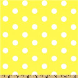 Spot On Polka Dots Yellow Fabric