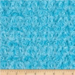 Michael Miller Minky Solid Rosebud Snuggle Turquoise
