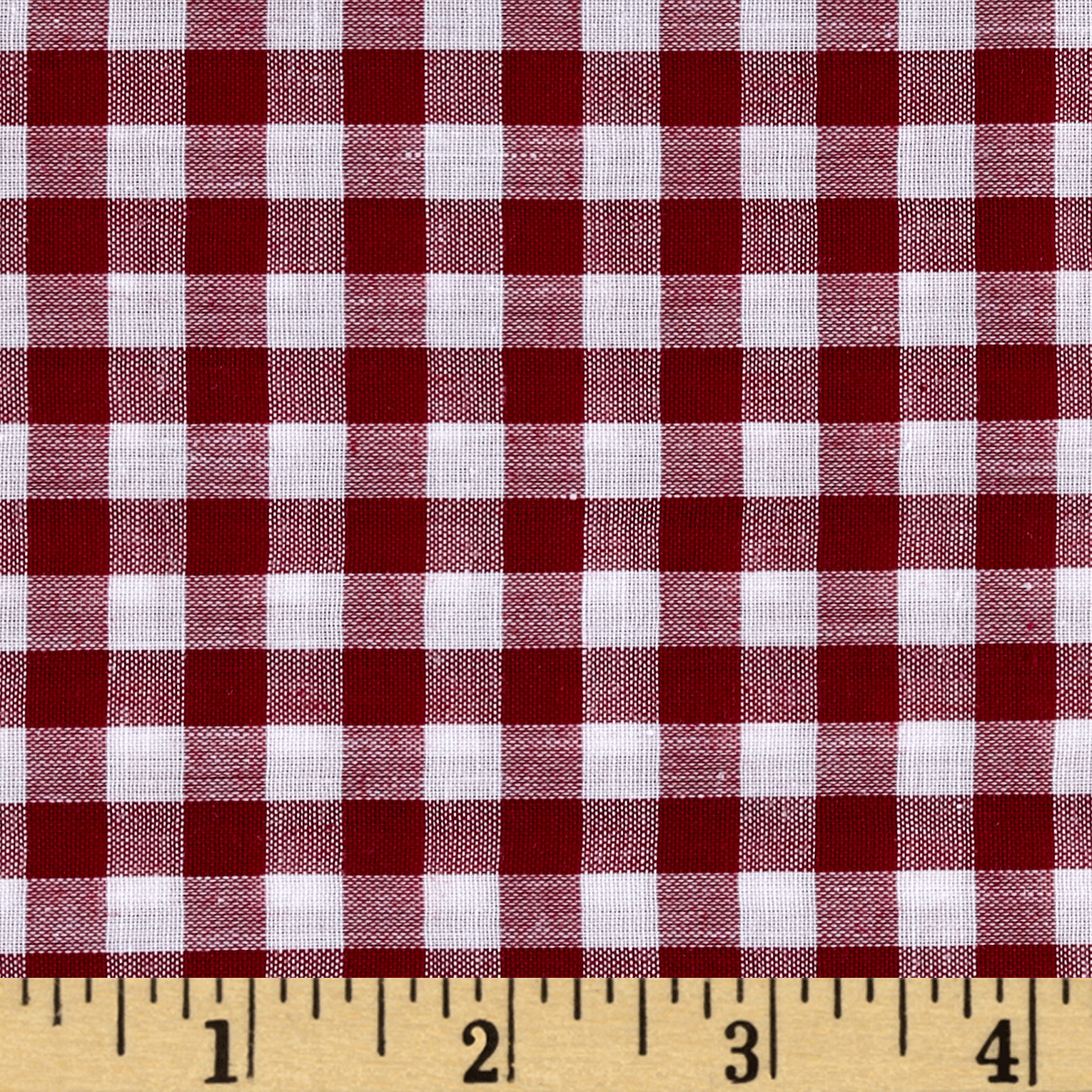 Richcheck 60'' Gingham Check 1/4'' Berry Fabric by Richland in USA