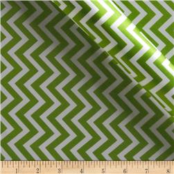 Charmeuse Satin Chevron Jade/Snow