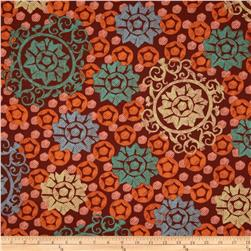 Chiffon Medallion Orange