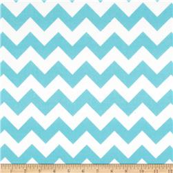 Riley Blake Flannel Basics Chevron Medium Aqua Fabric