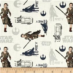 Star Wars The Force Awakens Rey White