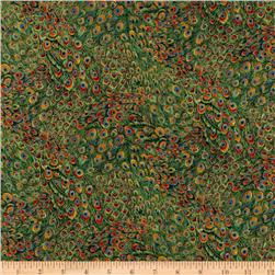 Peacocks Peacock Feather Green Fabric