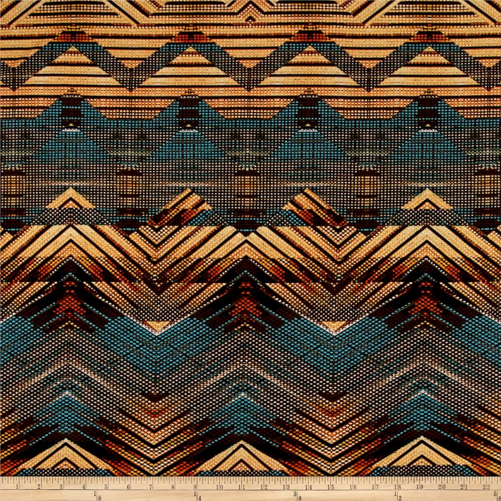 Stretch ITY Knit Abstract Pyramids Multi