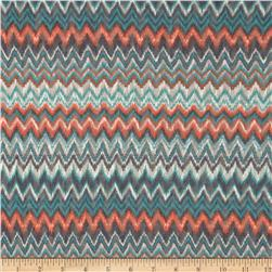Lace Knit Zig Zag Aqua/Orange