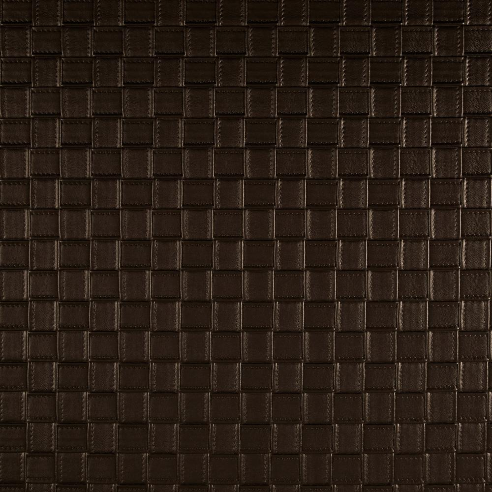 Luxury Faux Leather Basketweave Brown