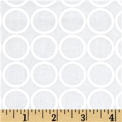 Metro Living Circles Snow Fabric