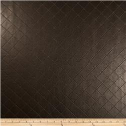 Richloom Faux Leather Diamonds Gorman Chocolate