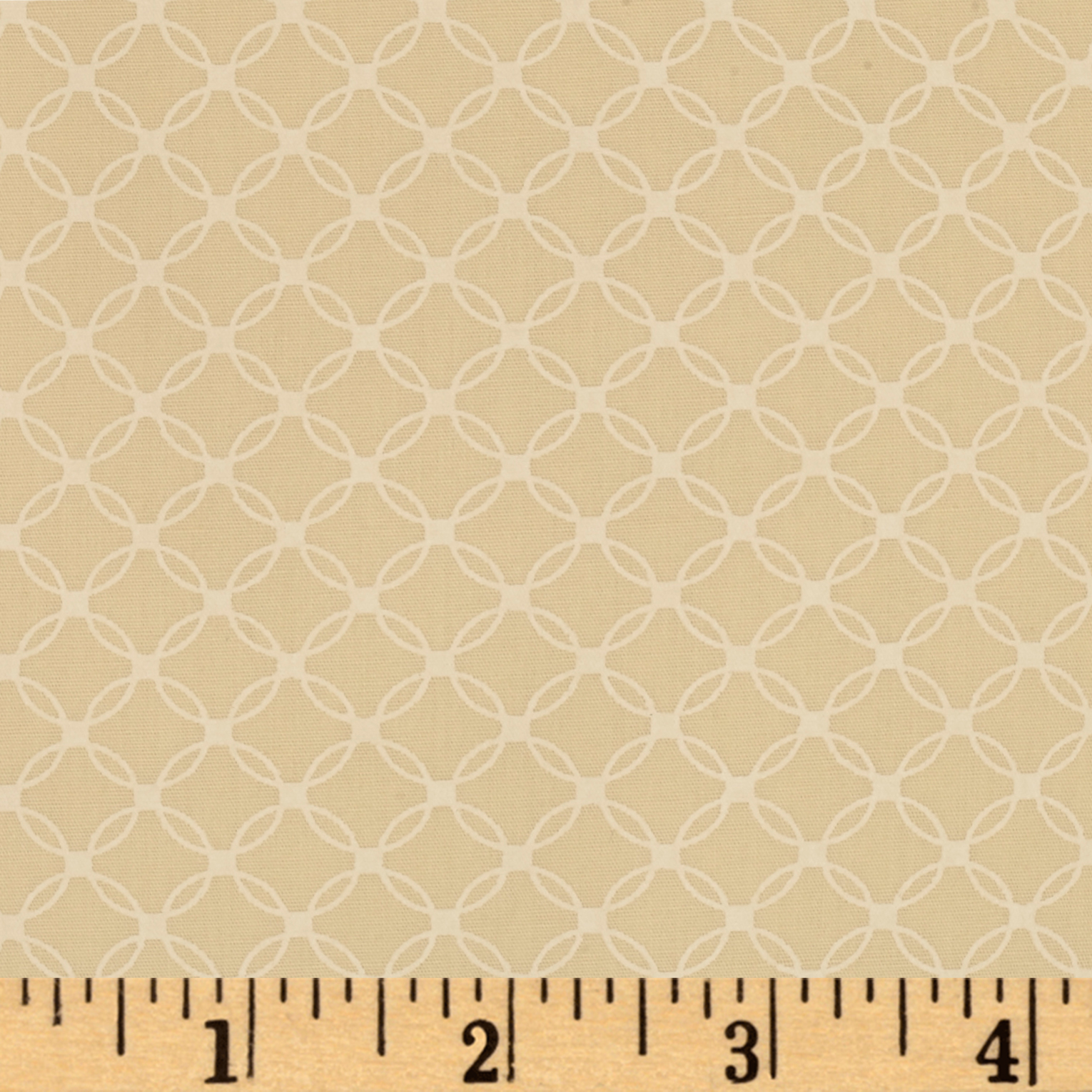 Grace Rings Beige Fabric by Windham in USA