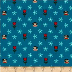 21 Wale Corduroy Paul Frank Teal Fabric