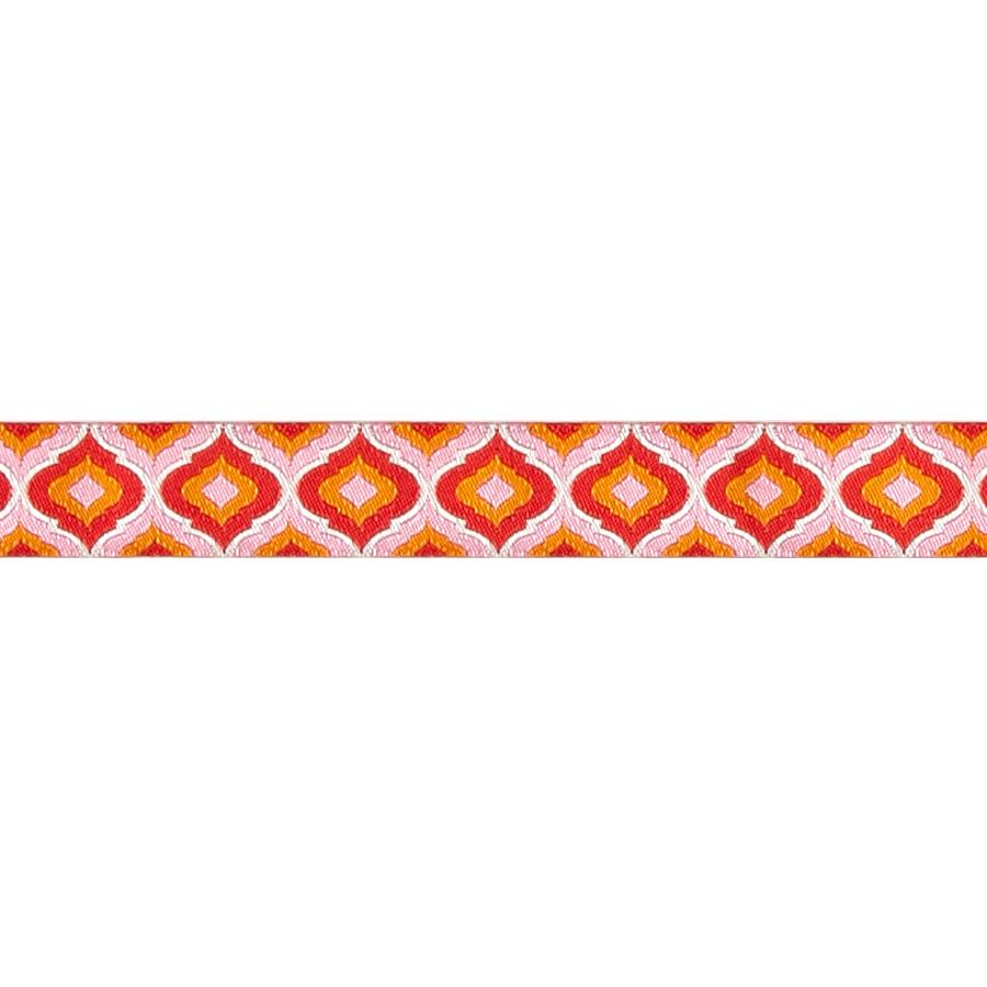 7/8'' Tula Pink Blush Lantern Orange Ribbon Light Pink