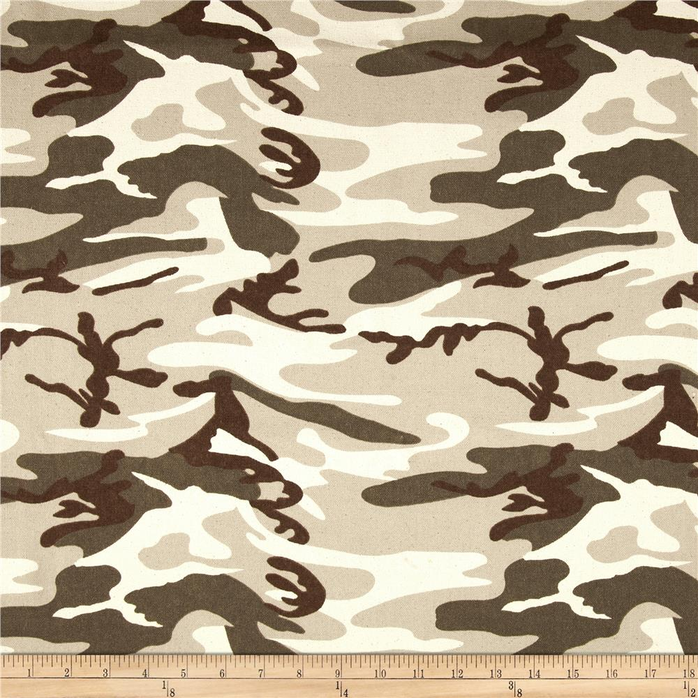 9 oz. Canvas Camouflage Desert Tan