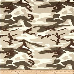 9 oz. Canvas Camouflage Desert Tan Fabric
