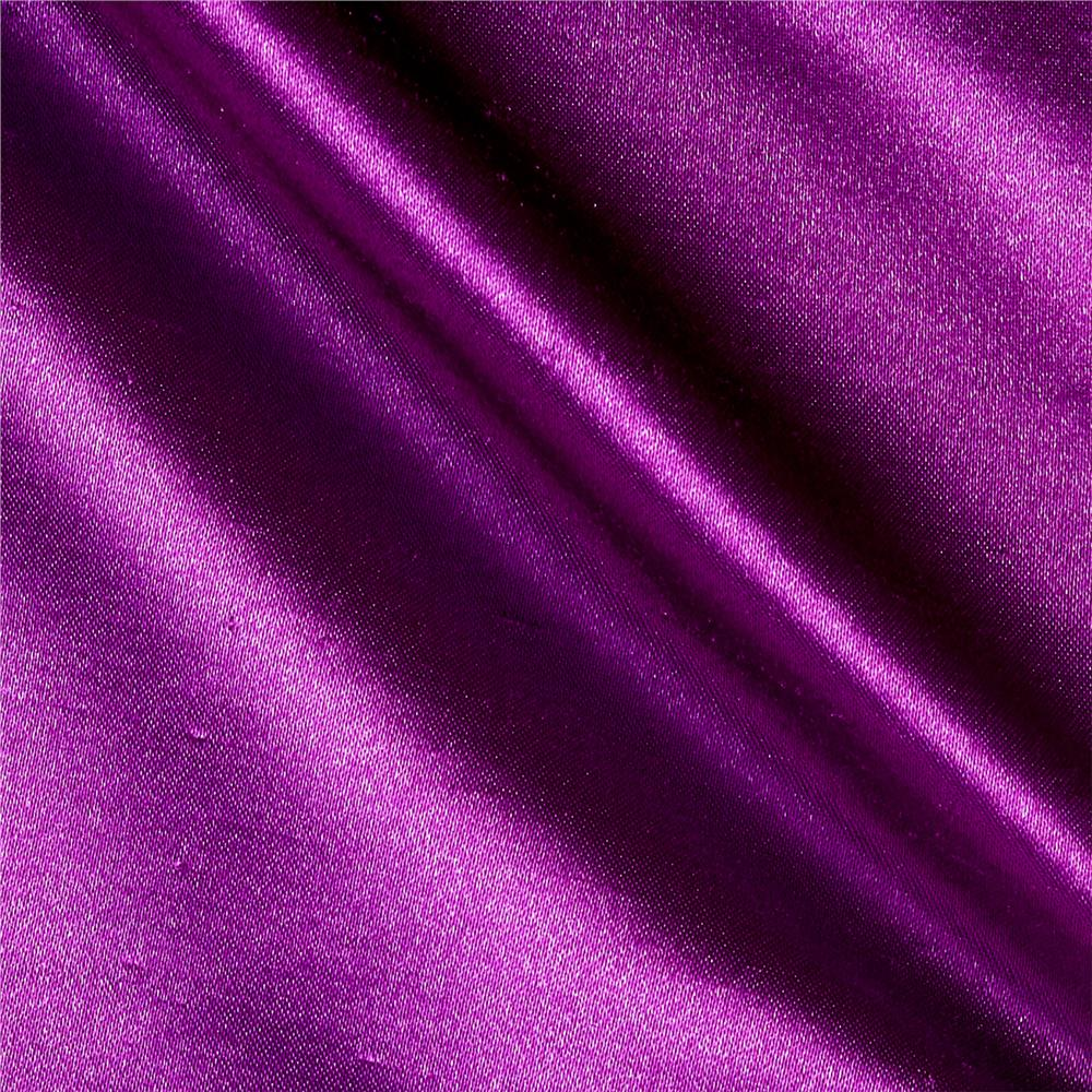 Shantung Sateen Jewel Purple Fabric By The Yard