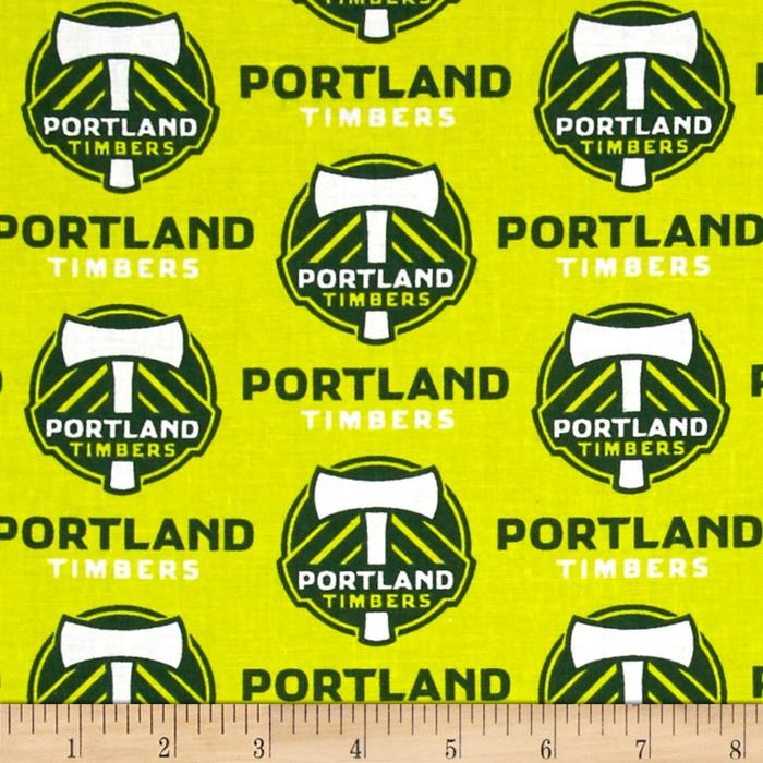 MLS Cotton Broadcloth Portland Timbers Lime