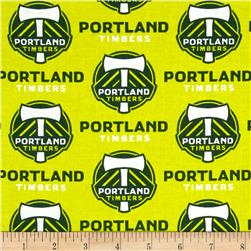MLS Cotton Broadcloth Portland Timbers Yellow