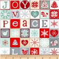 Joy, Love, Peace Block Word Print Multi