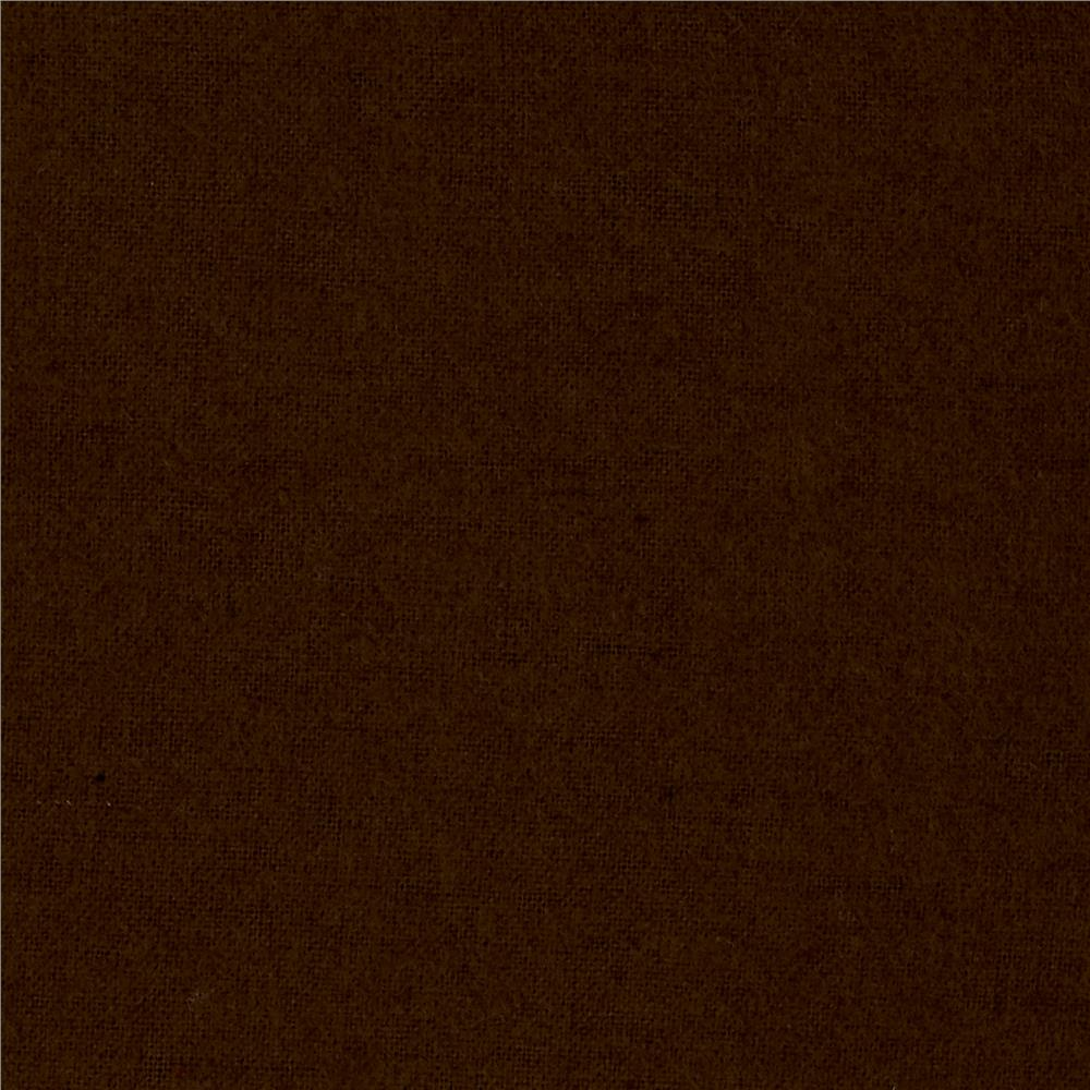 Alpine Flannel Solid Brown Fabric
